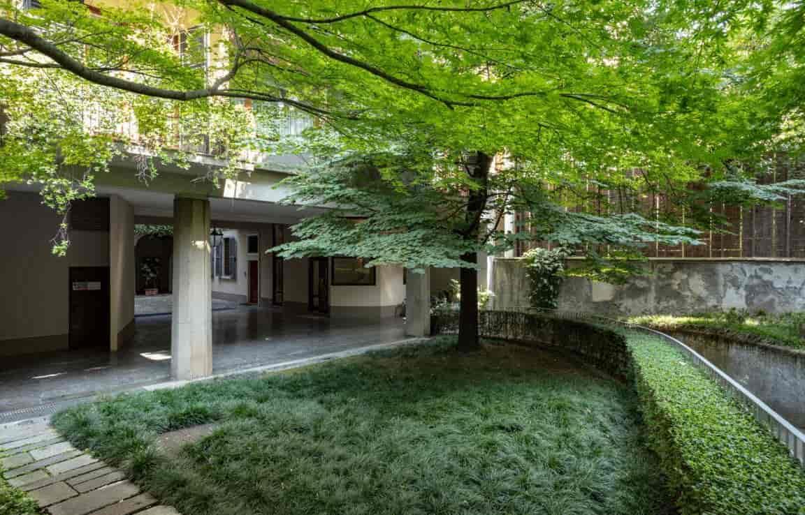 Cortile interno - Ufficio e Appartamento via Morigi 7 Milano | COGERAM
